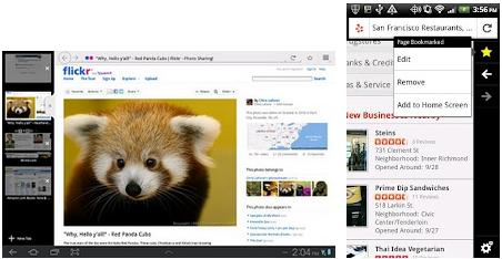 Firefox browser for Android